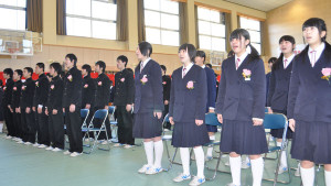 6中学卒業式