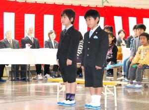 上林小の入学式