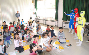 由良川レンジャーが小学生に授業を行った