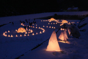奥上林の「冬あかり」