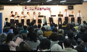 コールアマデウスの第5回演奏会が16日にアスパで開催され、200人を超える入場者があった。
