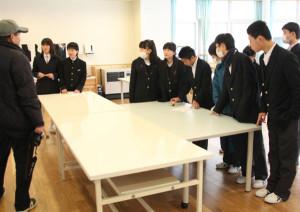 上林小・中学校が交流学習