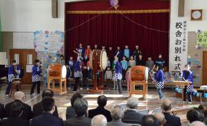 上林小校舎のお別れ式