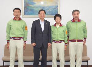 17日から4日間、山口県内で開催される第28回全国健康福祉祭(ねんりんピック)に京都府代表として綾部市内から3人が出場する