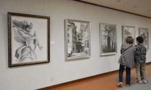 水墨画愛好者グループ「粋墨の会」の第7回作品展(市、市教委、あやべ市民新聞社など後援)が28日から、青野町のグンゼ博物苑・集蔵で開かれている。30日まで。