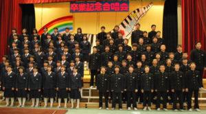 豊里中の卒業記念合唱会