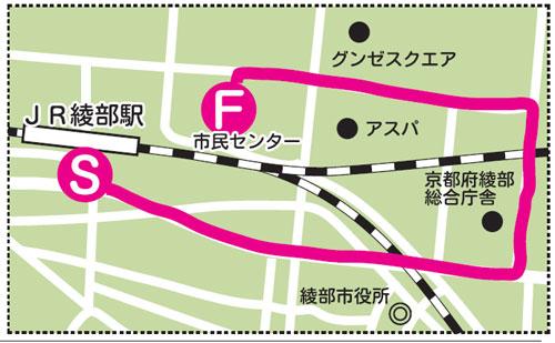 綾部の聖火ルートはJR綾部駅南口から新しい市民センターまで―。東京オリンピック・パラリンピック競技大会組織委員会(東京2020組織委員会)は17日に東京五輪の聖火リレールートの詳細などを発表した。