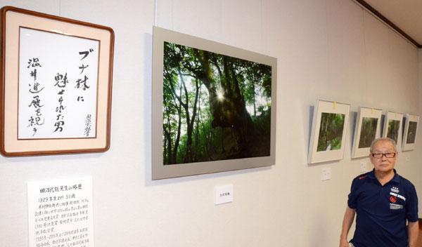 温井さんのブナ林を題材とした作品展